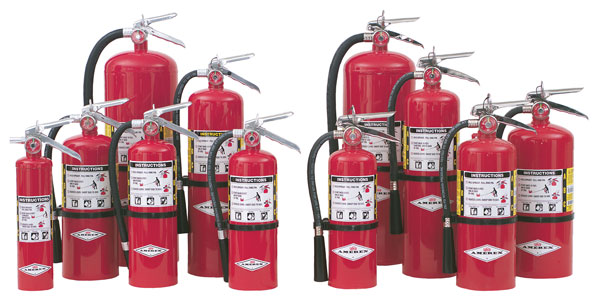Various extinguishers
